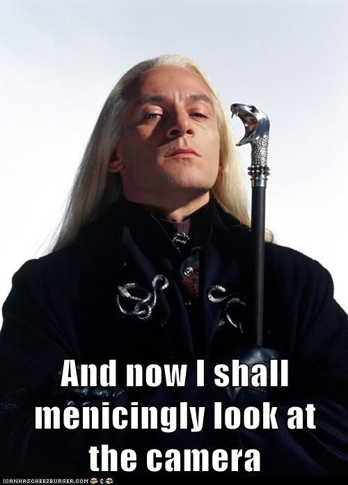 menacingly,Harry Potter,camera,Lucius Malfoy,Jason Isaacs