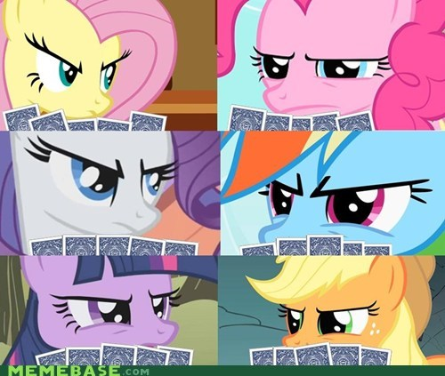 poker face,rarity looks mad,memebase,poker