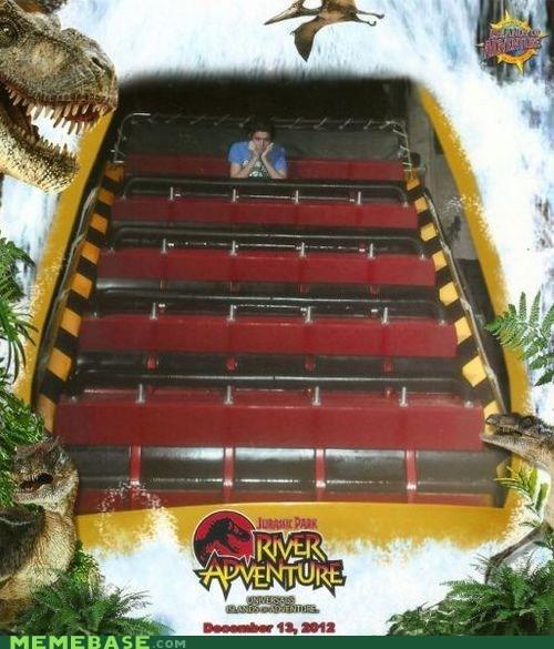 forever alone,jurassic park,roller coaster