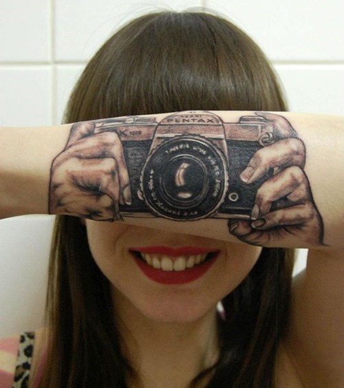 arm tattoos,camera