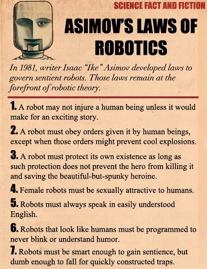 laws of robotics,isaac asimov,fact and fiction