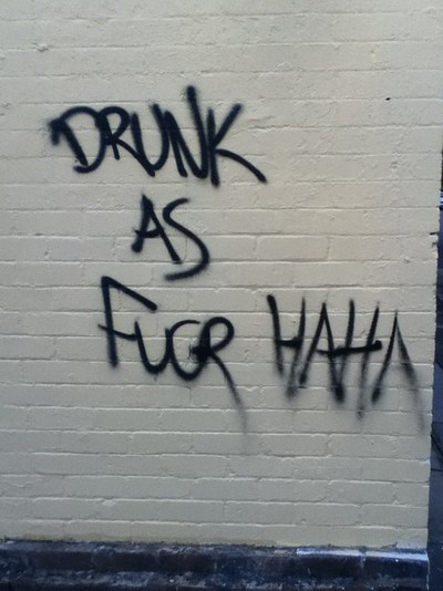 vandalized,drunk,graffiti