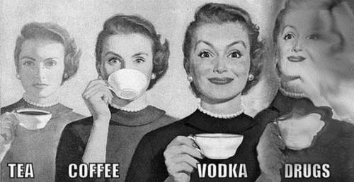 lsd drugs vodka tea coffee