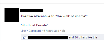got laid parade,walk of shame