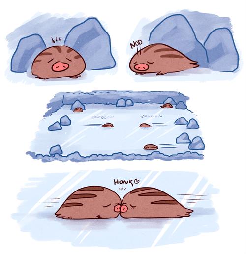 art ice types cute comic swinub - 6891375616