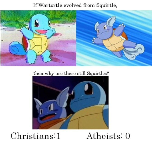 religion atheists squirtle christians wartortle arceus - 6891409408