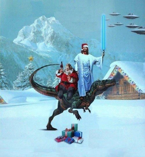 jesus christmas wtf santa funny - 6891424256