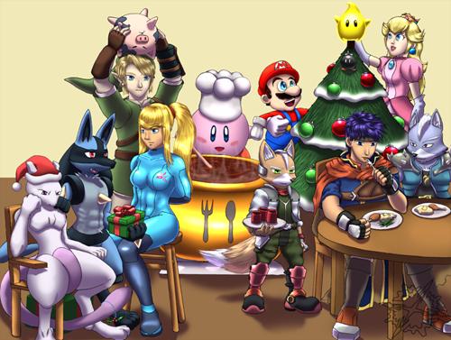 super-smash-bros-christmas,nintendo