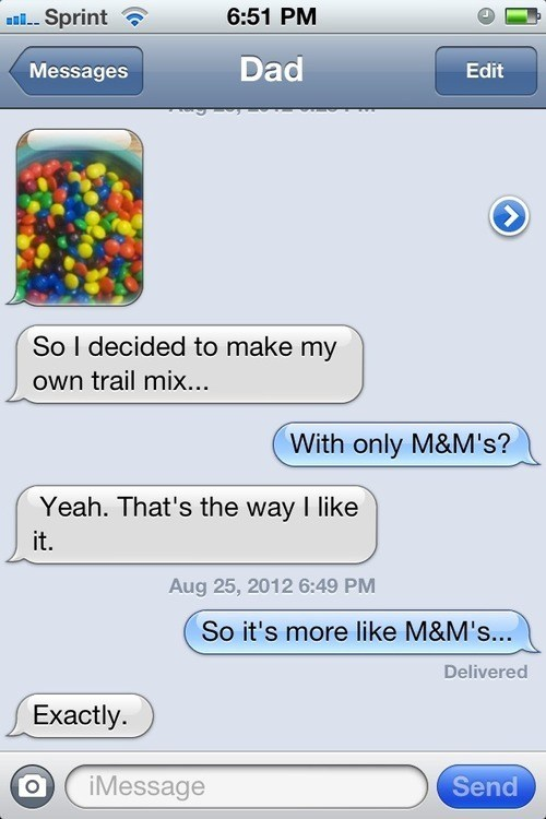 candy iPhones trail mix m&ms g rated AutocoWrecks - 6891467776