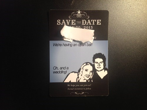 save the date wedding open bar - 6891650560