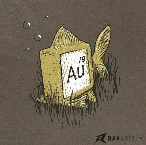 au,element,gold,periodic table,atomic number,fish