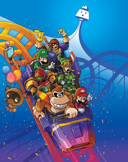 Fan Art roller coasters video games nintendo