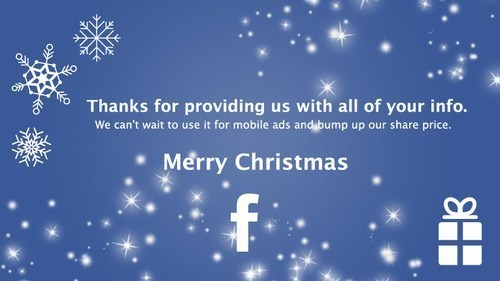 christmas holiday card facebook info - 6892280832