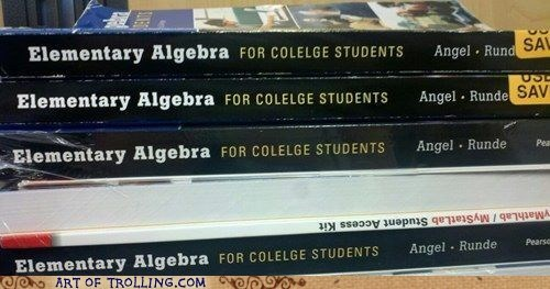 textbooks,spelling issues,english,college