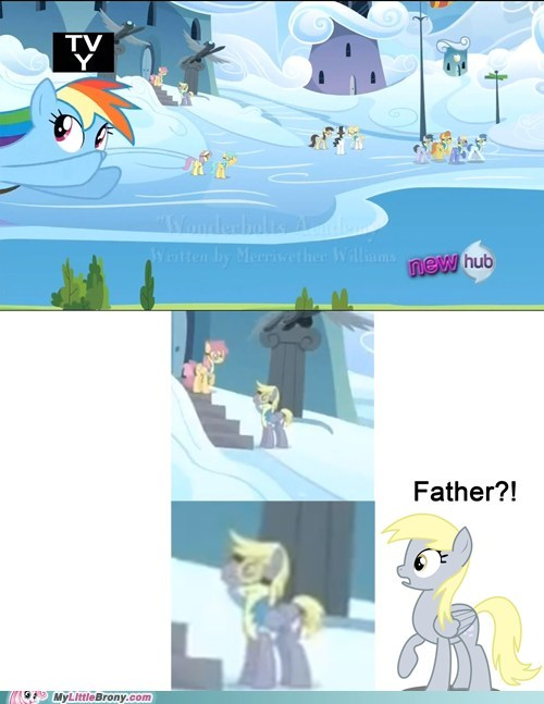 wonderbolts academy,derpy hooves,background ponies,Father