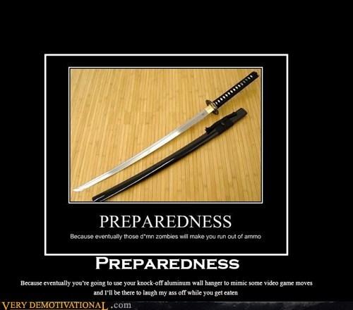 zombie prepare apocalypse sword