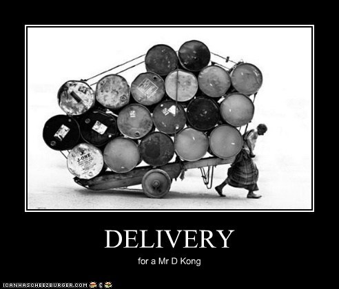 DELIVERY for a Mr D Kong