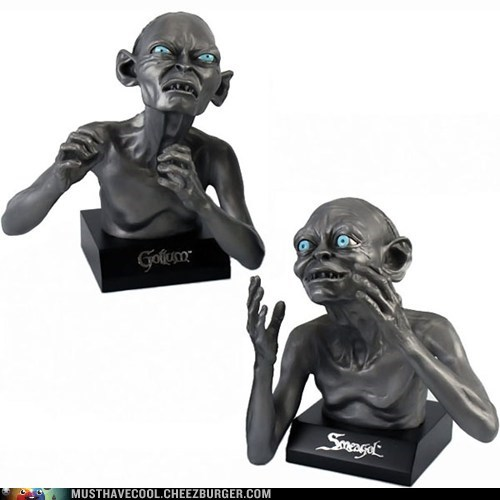 scary bookends Lord of the Rings gollum Sméagol - 6893683200