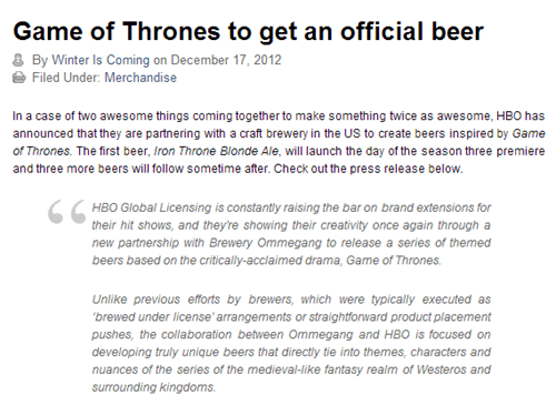 beer alcohol Winter Is Coming Game of Thrones after 12 g rated