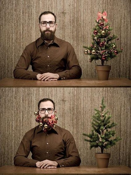 beard,christmas tree,decorations