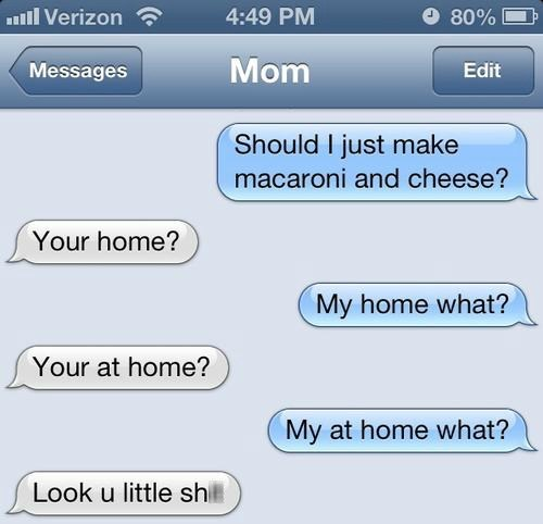 mac and cheese iPhones kids attitude mom AutocoWrecks - 6893885696