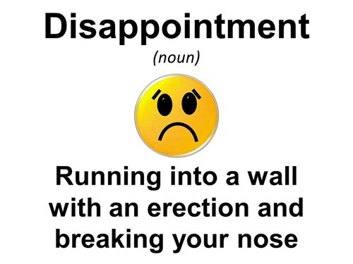 erection disappointment broken nose no win - 6893904896