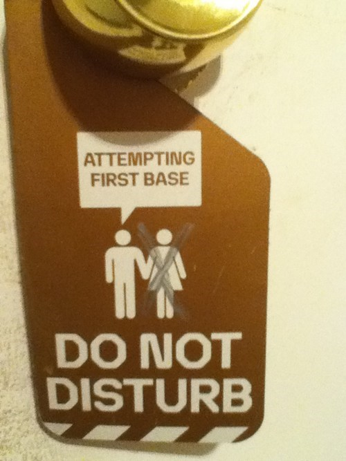 door,do not disturb,first base