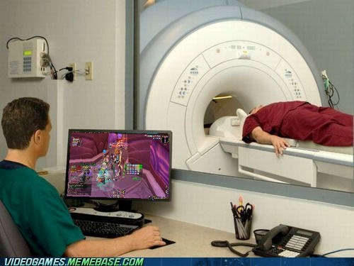 world of warcraft,not paying attention,PC,cat scan