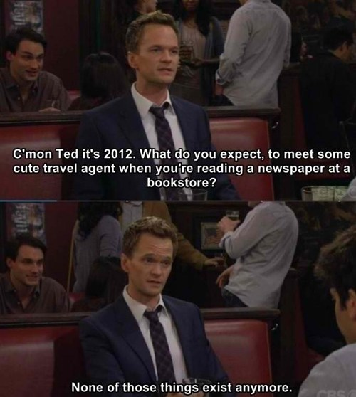 unicorn travel agents how i met your mother newspaper bookstore - 6893964544
