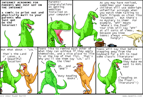 guide,adults,dinosaur comics,textspeak