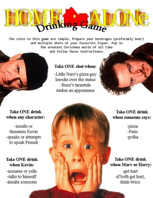 Home Alone drinking game after 12