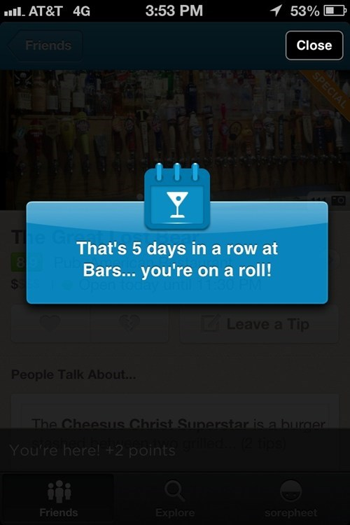 bars,foursquare,on a roll,g rated,AutocoWrecks