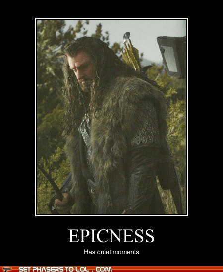 richard armitage,quiet,epicness,The Hobbit,thorin oakenshield