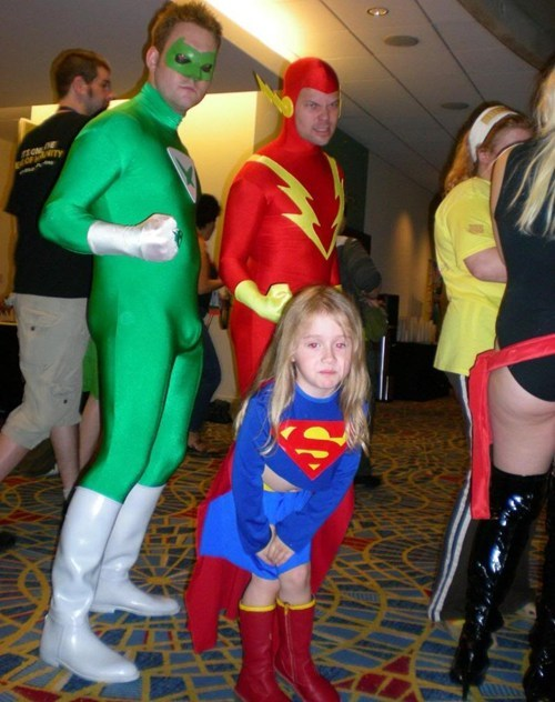 superheros cosplay spandex poorly dressed