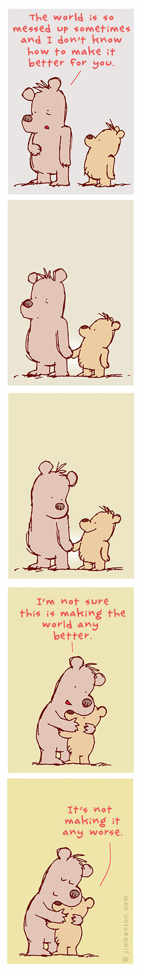bears jim benton hugs comic