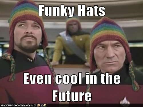 cool,funky,Michael Dorn,hats,Jonathan Frakes,the next generation,future,Star Trek,patrick stewart