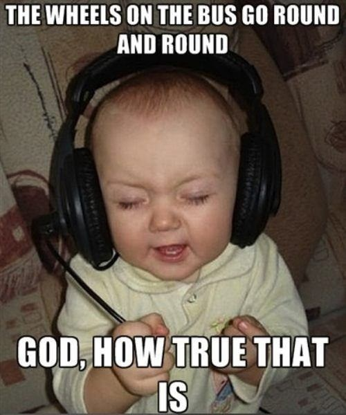 Music,baby,headphones,g rated,Parenting FAILS