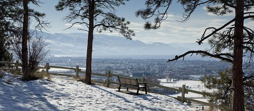 Canada,view,Kelowna,winter
