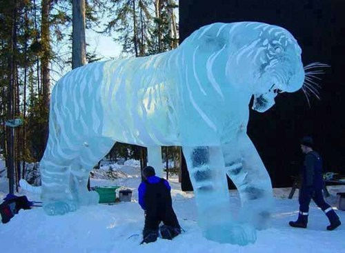 art tiger ice ice sculpture g rated win - 6894552832