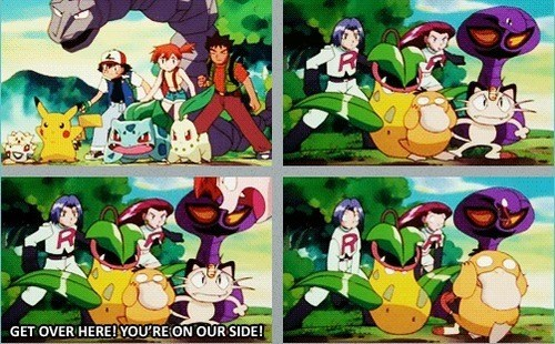 Team Rocket,Psyduck,anime,genius