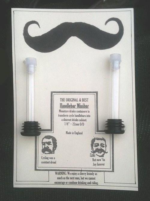 alcohol handlebars booze flasks hide bike - 6894599936