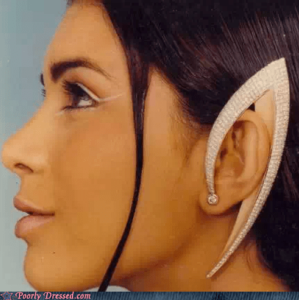 Spock earrings Star Trek - 6894644736