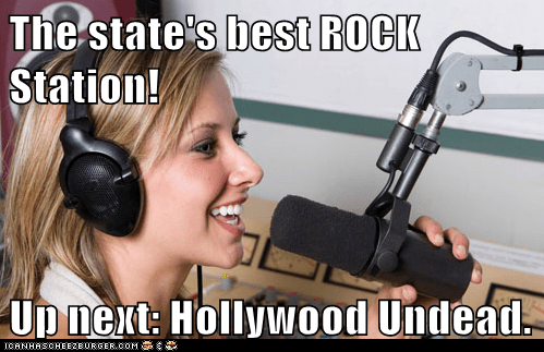 The state's best ROCK Station!  Up next: Hollywood Undead.