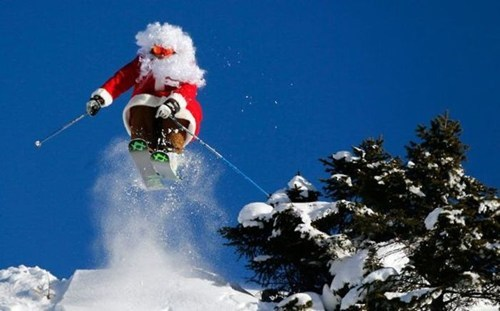 sports santa BAMF skiing