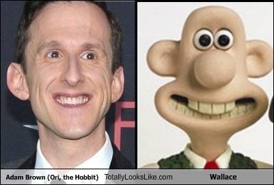 Adam Brown (Ori, the Hobbit) Totally Looks Like Wallace