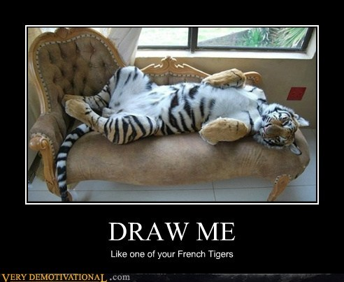 tiger french girls draw me