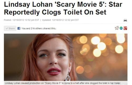 news wtf gross crapped Movie lindsay lohan clogged toilet - 6897525504
