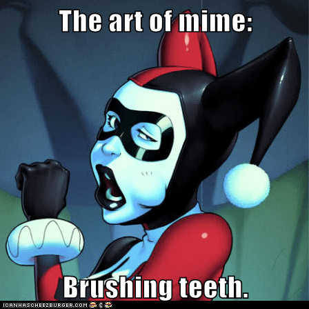 mime Harley Quinn toothbrush - 6897567232