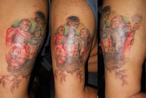 arm tattoos avengers - 6897596672