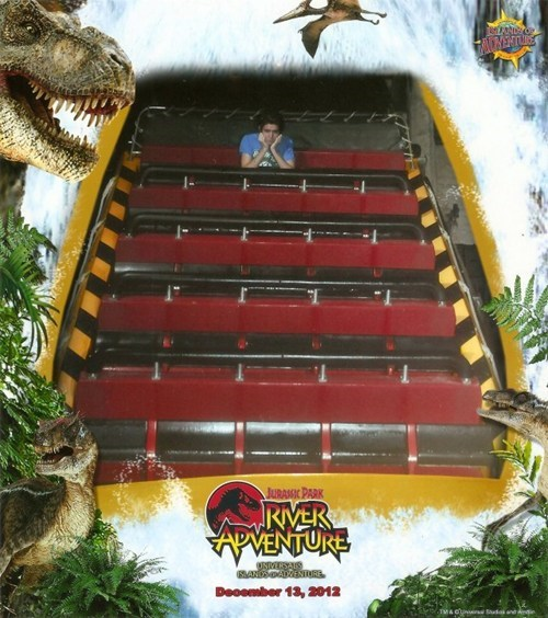 ride,forever alone,amusement park,jurassic park,lonely